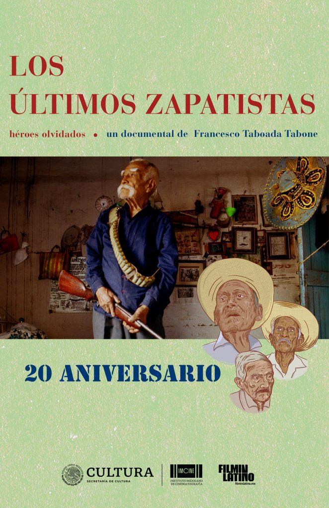 El IMCINE y la plataforma Filminlatino celebran los veinte años del estreno del documental Los Últimos Zapatistas.